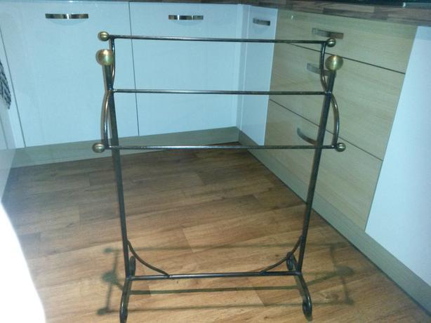 Antique cast iron towel rack for sale