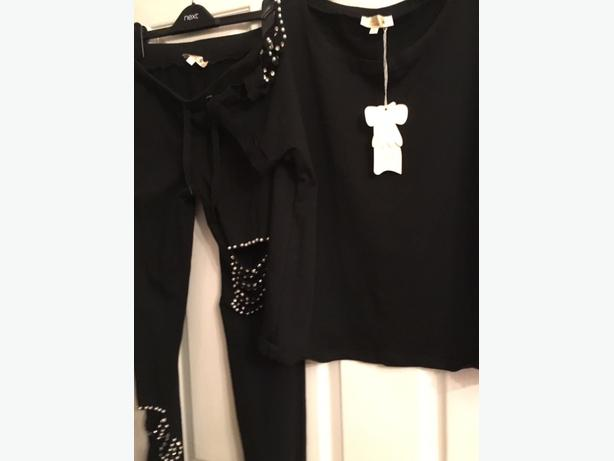 Black Blingy Tracksuit