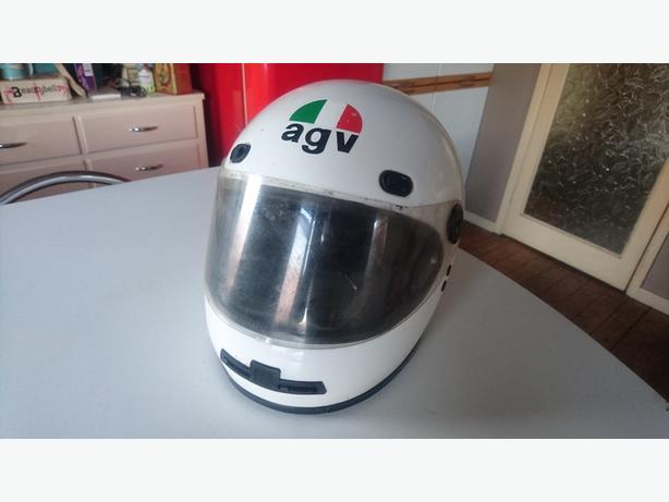 VINTAGE AGV X15 VALENZA ITALIAN MOTORCYCLE CRASH HELMET DECOR PROP DISPLAY