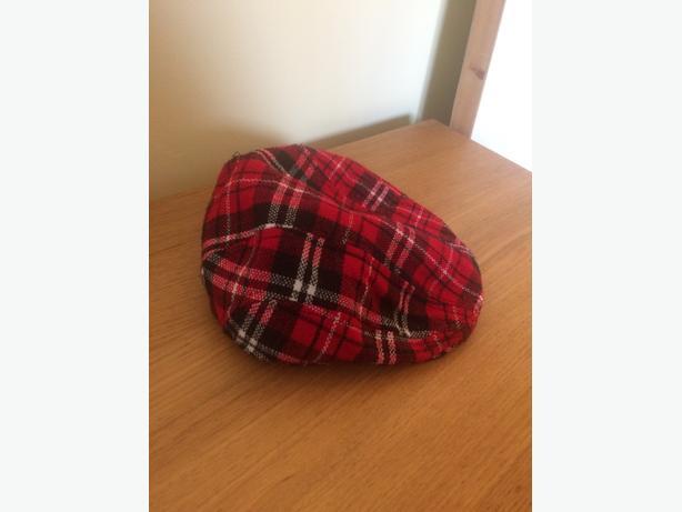 6-9 month tartan flat cap