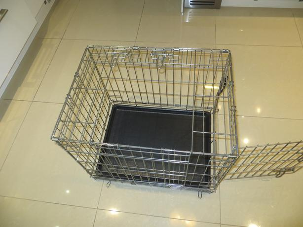 Metal pet carrier cage