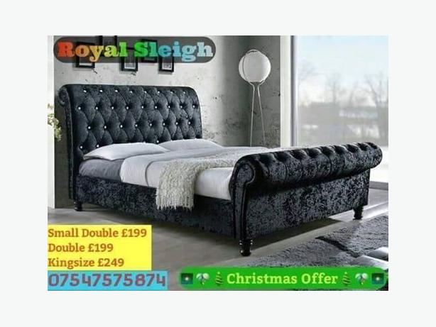 Brand New In Packaging Sleigh Bed