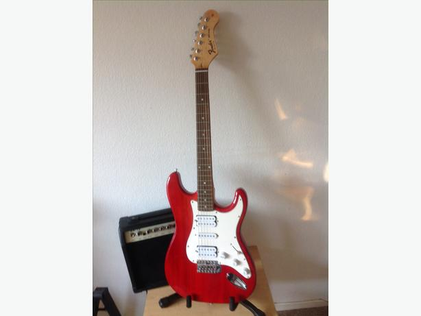 Red strat copy and amp package