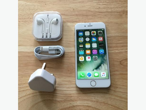 IPhone 6 64gb Silver O2,Tesco,Giffgaff