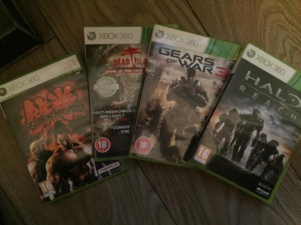for all. gears of  war 3. tekan 6. dead island. halo reach (xbox360)