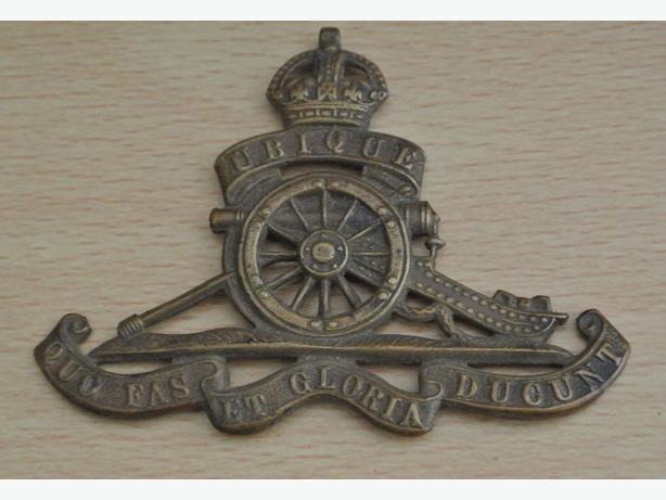 Royal Artillery badge UBIQUE QUC FAS ET GLORIA DUCUNT