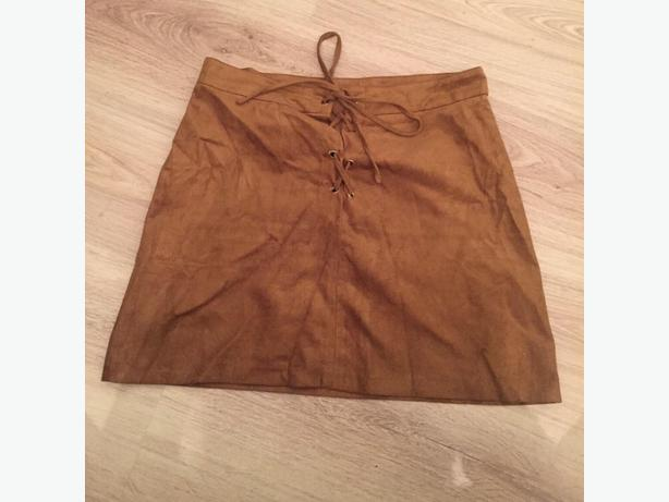 select suede skirt