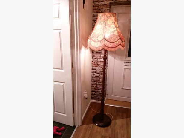 vintage wooden standing lamp