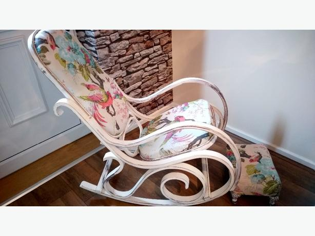 Beautiul rocking chair and footstool