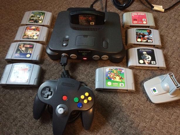 N64 NINTENDO 64 AND 9 GAMES