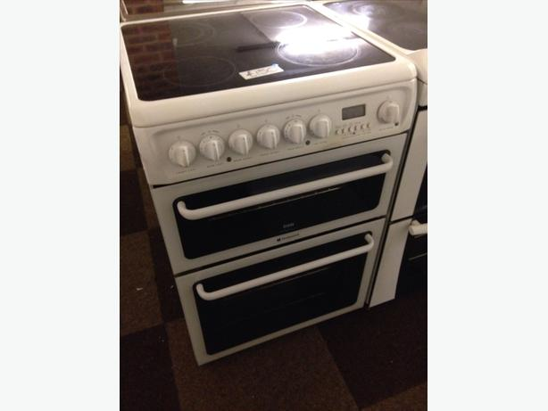 HOTPOINT ELECTRIC COOKER 60CM FAN ASSISTED DOUBLE OVEN