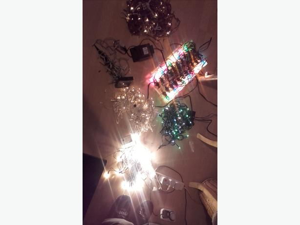 Joblot 7 sets of christmas lights