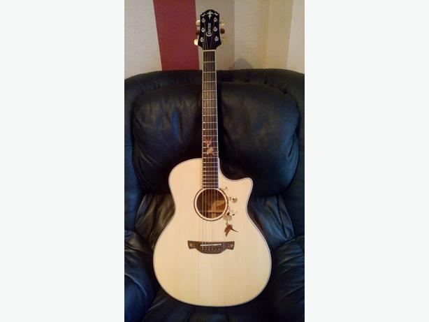 Crafter 32nd Anniversary Twin Bird Mahogany Acoustic Guitar Superb Condition