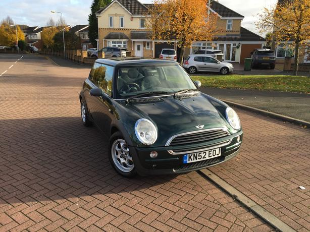 Mini One 1.6 3 Dr Petrol Manual Green Electric Panoramic Glass Roof Full Mot