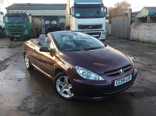 Peugeot 307cc 2.0 16v 2 Dr Convertible Full Cream Leather Full Mot