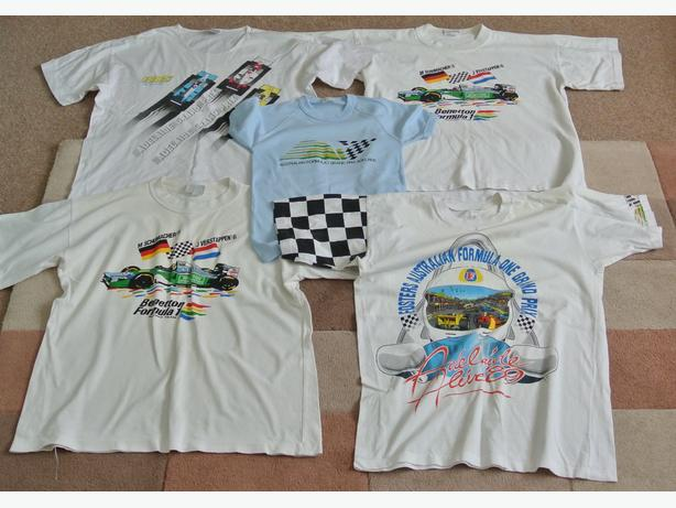 5 Formula 1 T-shirts from 1980's 90's Adelaide GP plus Fosters pennant