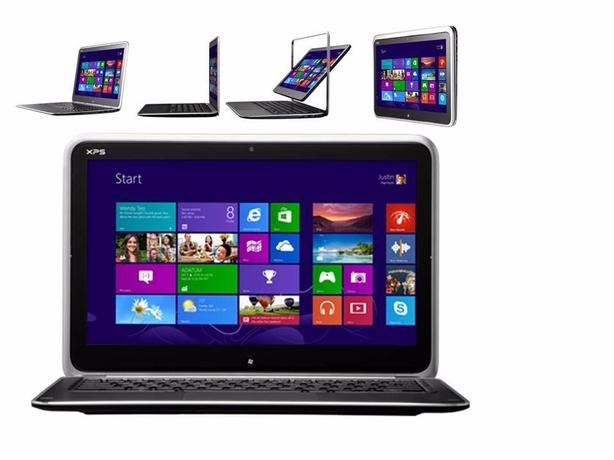dell xps 12 laptop core i7 . 8gbram convertable tablet notebook
