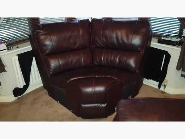brand new corner leather sofa seat