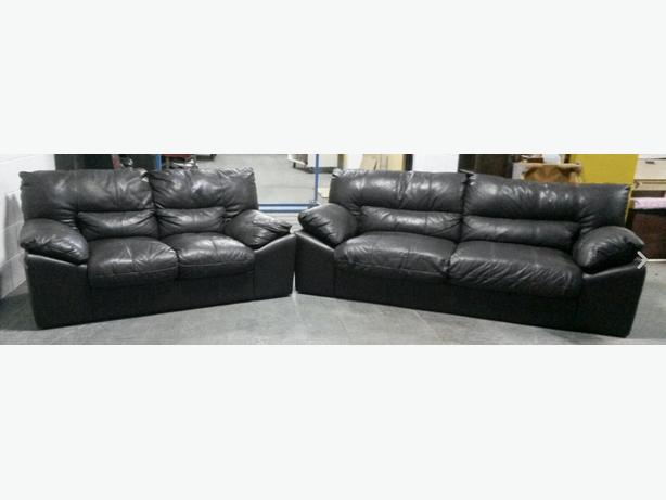 Large DFS Brown Leather 3&2 Seater Sofa Set.WE DELIVER