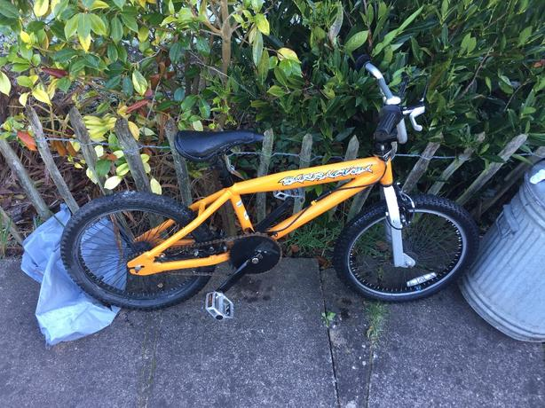 BMX Orange Barracuda 20inch wheels