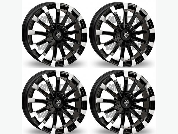 Wolfrace Renaissance 20″ Black / Polished Alloy Wheels VW T5