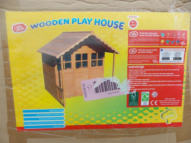 New wooden playhouse