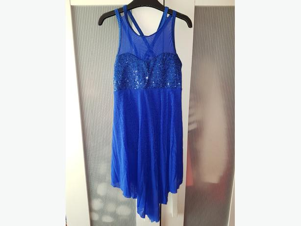 Royal blue lyrical dress
