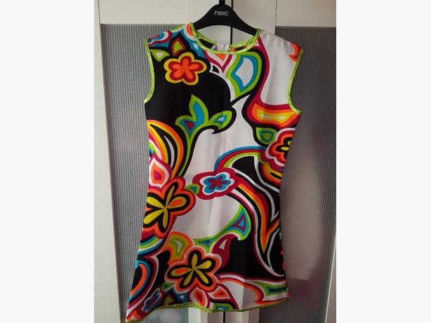 bright 60s style dress