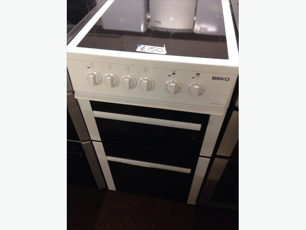 50CM CERAMIC TOP BEKO FAN ASSISTED DOUBLE OVEN ELECTRIC COOKER