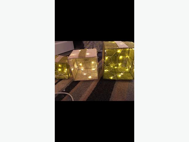 Christmas light up presents