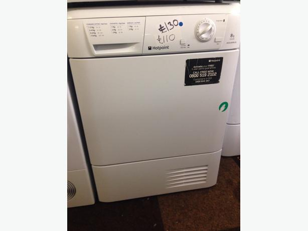 8KG HOTPOINT WHITE CONDENSER DRYER WHITE
