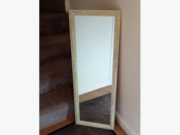 Wall Mirror Full Length Hall Mirror Oblong Excellent Condition 15 x 42