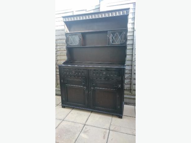solid dark oak dresser