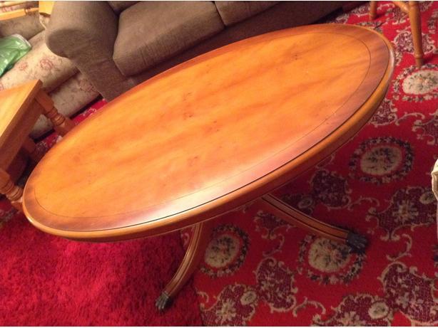 Oval Shape Coffee Table