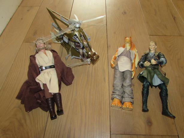 collection of star wars toys .....