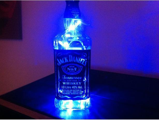 upcycle j.d whiskey bottle