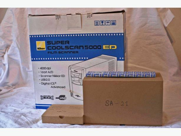 Nikon Super Coolscan 5000 ED + Batch Slide & Film Scanners SF-210 & SA-30