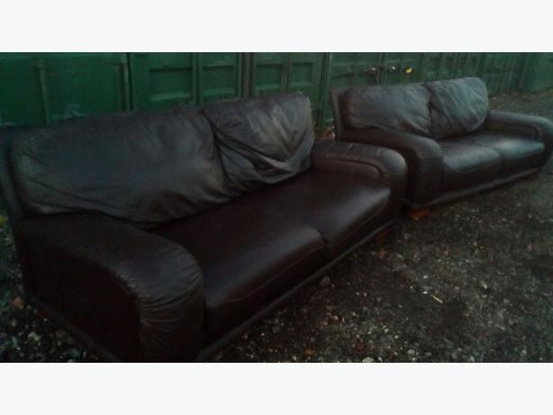 Dfs Brown Leather 3 And 3 Seater Sofas Delivery Brierley Hill Dudley Mobile