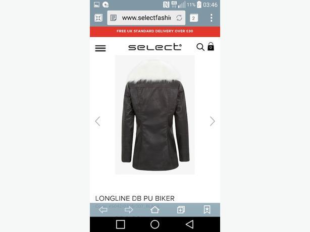 long line leather biker jacket