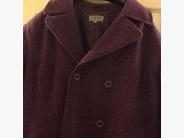 M&S purple 80% wool jacket size size 24