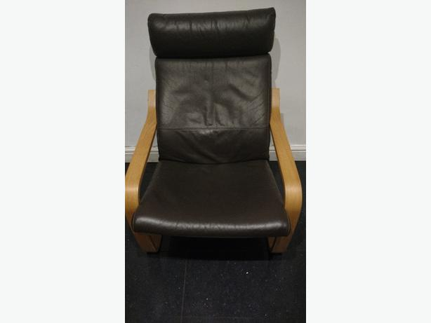 Ikea poang leather chair wolverhampton dudley for Ikea poang leather
