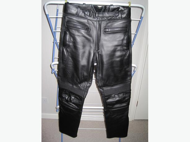 Rayven Leather Motorcycle Trousers