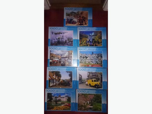 x9 1000 piece jigsaw puzzles  £1.50 each or all x9 for £12