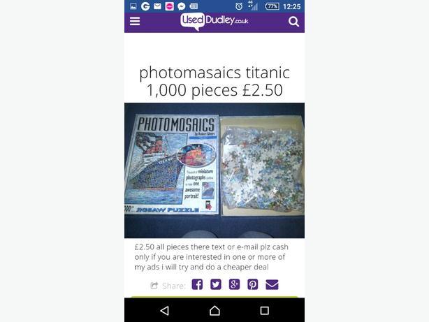 photomasaics titanic 1,000 piece jigsaw puzzle