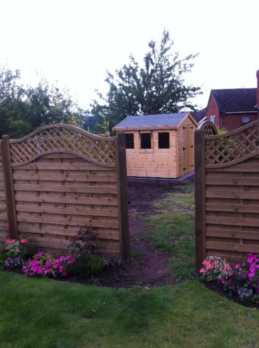 Garden sheds made with quality and care free installation for Garden shed installation