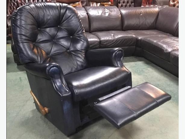 Phenomenal Log In Needed 249 La Z Boy Antique Blue Leather Chesterfield Recliner Chair We Deliver Uk Wide Inzonedesignstudio Interior Chair Design Inzonedesignstudiocom