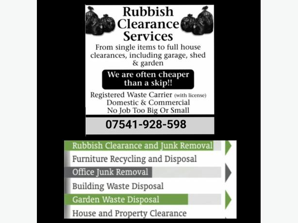 : **RUBBISH CLEARANCE SERVICES **