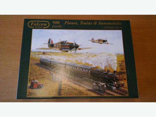 JIGSAW 500 PIECE PLANES TRAINS AND AUTOMOBILES