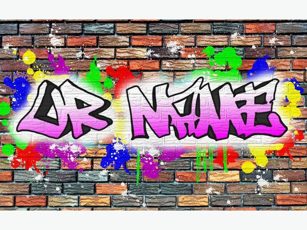 "Graffiti Posters - Personalised  - 8"" x 12"" - HD High Gloss"