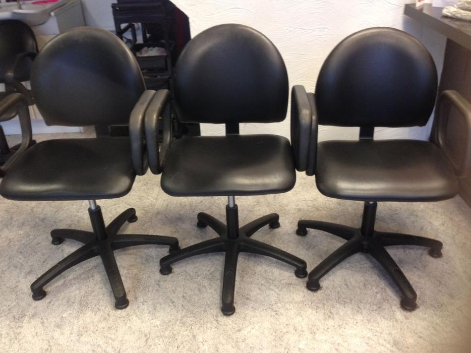 2 black hair salon styling chairs dudley wolverhampton for Used salon chairs